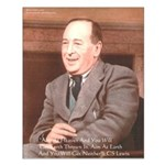 CS Lewis Aim At Heaven Quote Gifts Small Poster