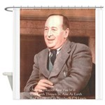 CS Lewis Aim At Heaven Quote Gifts Shower Curtain