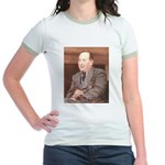 CS Lewis Aim At Heaven Quote Gifts Jr. Ringer T-Sh