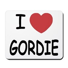 I heart GORDIE Mousepad