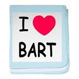 I heart BART baby blanket