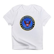 Blue US Navy Veteran Eagle Infant T-Shirt