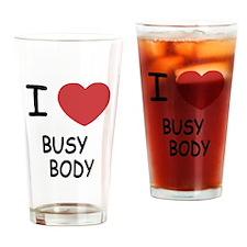 I heart BUSYBODY Drinking Glass