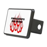 Firefighters Girlfriend Flames Rectangular Hitch C