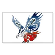 Metallic Grunge Eagle Tattoo Decal