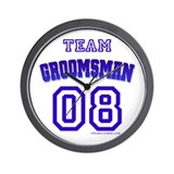 Team Groomsman 08 Wall Clock