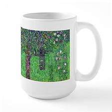 Klimt - Rosebushes Ceramic Mugs