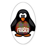 Fraser Tartan Penguin Decal