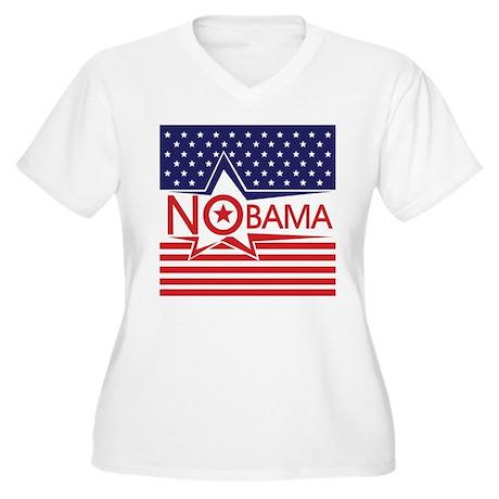 Just Say Nobama! Women's Plus Size V-Neck T-Shirt