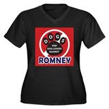 Dogs hate Romney! Women's Plus Size V-Neck Dark T-