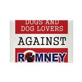 Dog Lovers Unite Against Romney! Rectangle Magnet