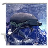 Dolphin.png Shower Curtain