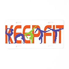 Keep Fit Aluminum License Plate