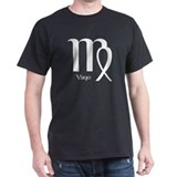 Virgo Symbol Black T-Shirt