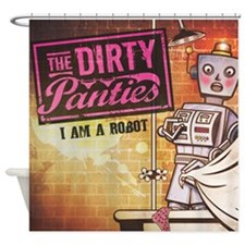 Unique Robot society Shower Curtain