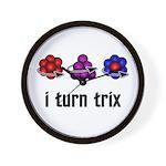 I Turn Trix Wall Clock