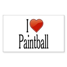 I Love Paintball Decal