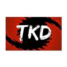 TKD Hurricane Rectangle Car Magnet