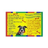 Pit Bull Property Laws Rectangle Magnet