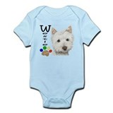 Westie Dog and Paw Print Design Onesie
