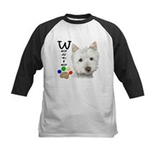 Westie Dog and Paw Print Design Tee