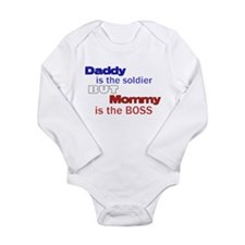 Cute Military children Long Sleeve Infant Bodysuit