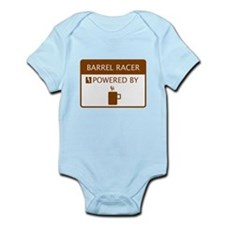 Barrel Racer Powered by Coffee Infant Bodysuit