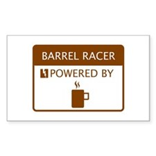 Barrel Racer Powered by Coffee Decal