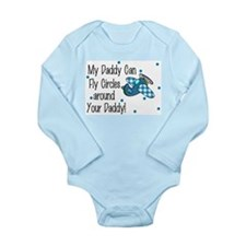 Funny Airplanes Long Sleeve Infant Bodysuit
