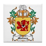 Mallory Coat of Arms Tile Coaster