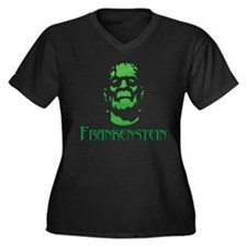 Frankenstein Women's Plus Size V-Neck Dark T-Shirt