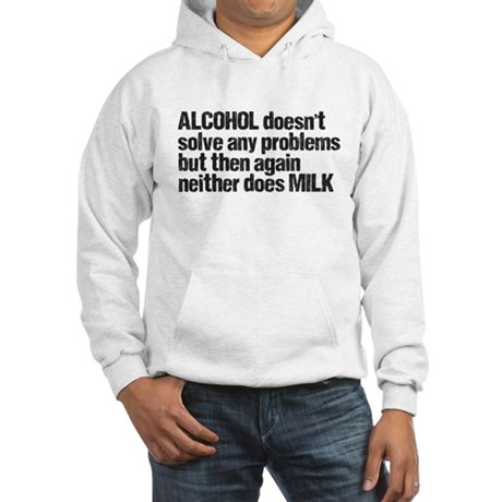 alcohol milk Hooded Sweatshirt