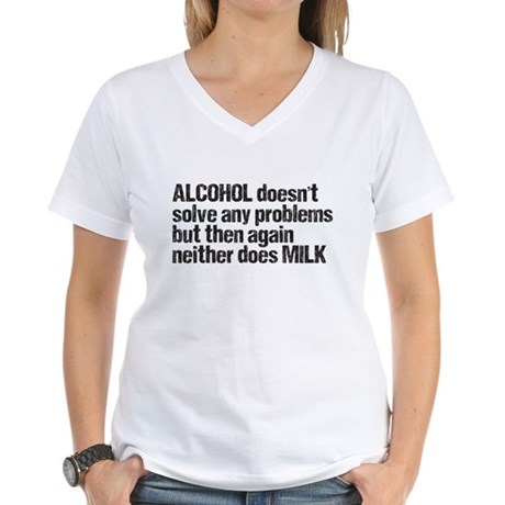 alcohol milk Women's V-Neck T-Shirt