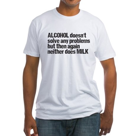 alcohol milk Fitted T-Shirt