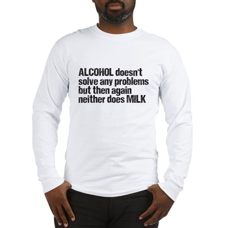 alcohol milk Long Sleeve T-Shirt
