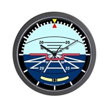 Artificial Horizon (blue) Wall Clock