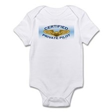 Pilot Wings (gold on blue) Infant Bodysuit