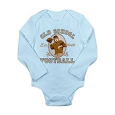 Old School Football Long Sleeve Infant Bodysuit