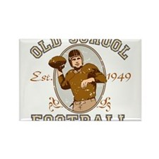 Old School Football Rectangle Magnet