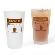 Geocacher Powered by Coffee Drinking Glass