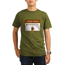 Horse Rider Powered by Coffee T-Shirt