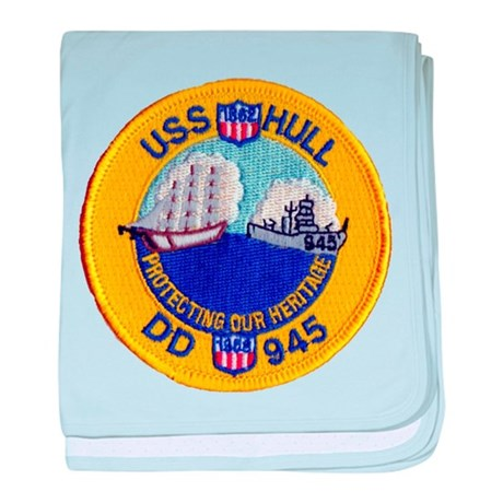 USS HULL baby blanket