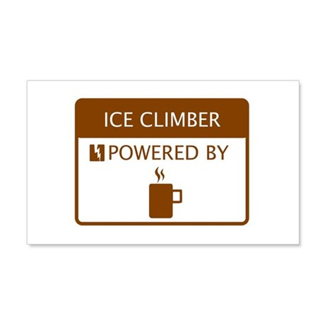 Ice Climber Powered by Coffee 20x12 Wall Decal