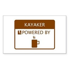 Kayaker Powered by Coffee Decal