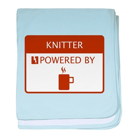 Knitter Powered by Coffee baby blanket