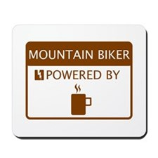 Mountain Biker Powered by Coffee Mousepad