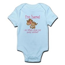 Funny I want a pony Infant Bodysuit