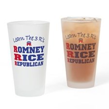Romney Rice Republican 2012 Drinking Glass