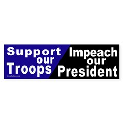 Impeach our President Bumper Sticker