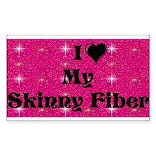 I Love My Skinny Fiber Decal